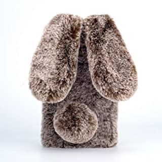 Ogmuk Soft TPU Rabbit Plush Case for Samsung Galaxy S20 FE,Cute Diamond Soft Winter Warm Fluffy Bunny Ears Fur Hair Furry ...