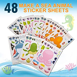 (48) Piece Set of Make-Your-Own Sea Sticker Sheets. Great for Parties, School or Craft Time. Enhance Your Child's Creativity!