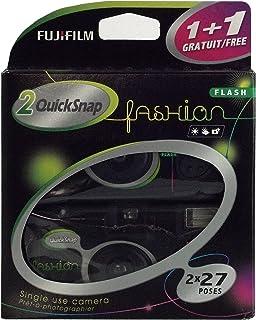 Fujifilm Quicksnap Fashion 400 ISO wegwerpcamera met flits, 2 x 27 opnames, zwart