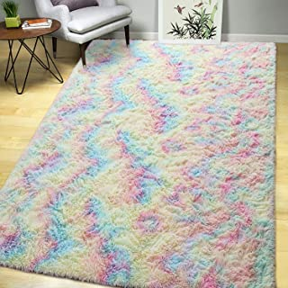 AROGAN Luxury Fluffy Girls Rug for Bedroom Kids Room 3 x...
