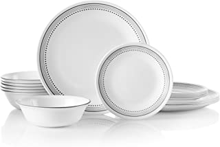 Corelle 18-Piece Service for 6, Chip Resistant, Mystic Gray Dinnerware Set