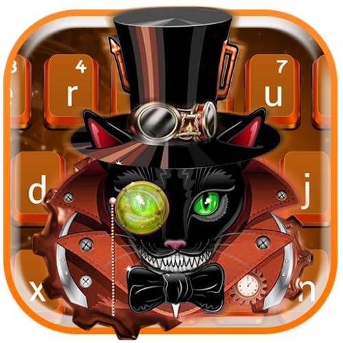 Steampunk Cat Keyboard Theme