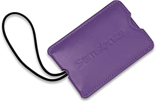 Samsonite Vinyl 2-Pack Rectangle Luggage ID Tags, Ultraviolet, One Size