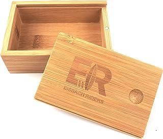Eisbach Riders Bamboo Surf Wax Box con Peine y Cera orgánica Hecha a Mano (Agua fría, Tropical) – Caja de Cera de bambú.