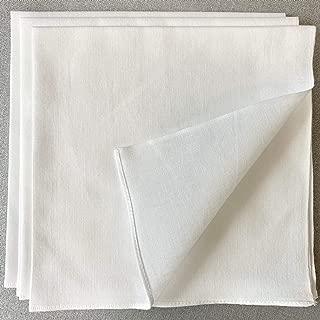 手ぬぐいの生地でつくったハンカチ 5枚組 和晒 無蛍光 約35㎝ 日本製 白ハンカチ
