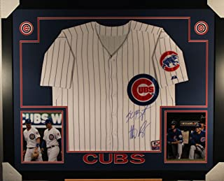 9bedf2770 Kris Bryant Anthony Rizzo Chicago Cubs Dual Signed Autograph Majestic  Custom Framed Cubs Jersey MLB Certified