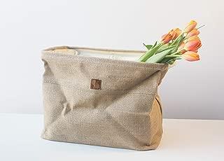 Collapsible Basket Jute Planters Car Bags Natural Chic Versatile Reusable Burlap
