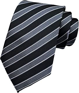 Ctskyte Men's Plaid Check Stripe Ties Pattern Business Formal Designer Neckties