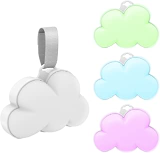 Pure Enrichment Baby Cloud Portable Sound Machine and Color-Changing Night Light - Plays 15 Soothing Sounds Including 5 Na...