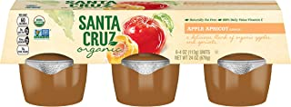 Santa Cruz Organic Apple Apricot Sauce, 6-4 Ounce Cups (Pack of 4)