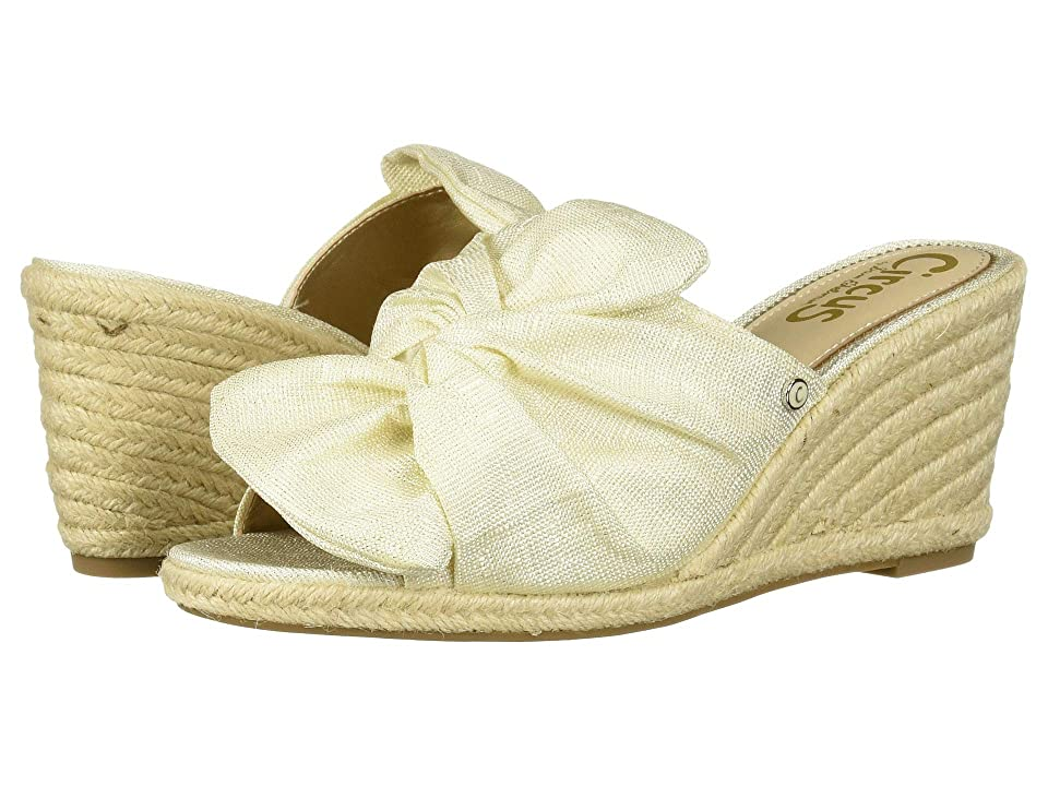 Circus by Sam Edelman Palma (Modern Ivory Lightweight Linen Metallic) Women's Shoes