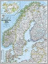 National Geographic: Scandinavia Classic Wall Map (23.5 x 30.25 inches) (National Geographic Reference Map)