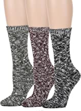 Leotruny Women's Vintage Knit Crew Boot Socks