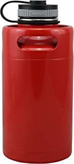 Warm Red Vacuum Insulated 64oz Stainless Steel Mini Keg Beer Growler