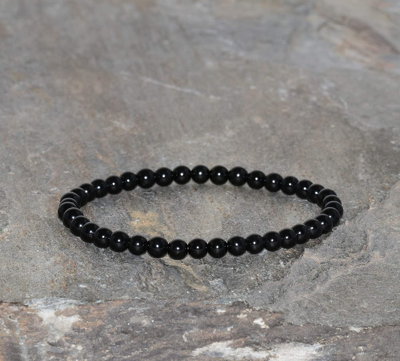 Black Tourmaline Bracelet Handmade Gemston El Paso Mall Beaded sale 4mm