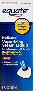 Equate Medicated Vaporizing Steam Liquid, 8 fl oz