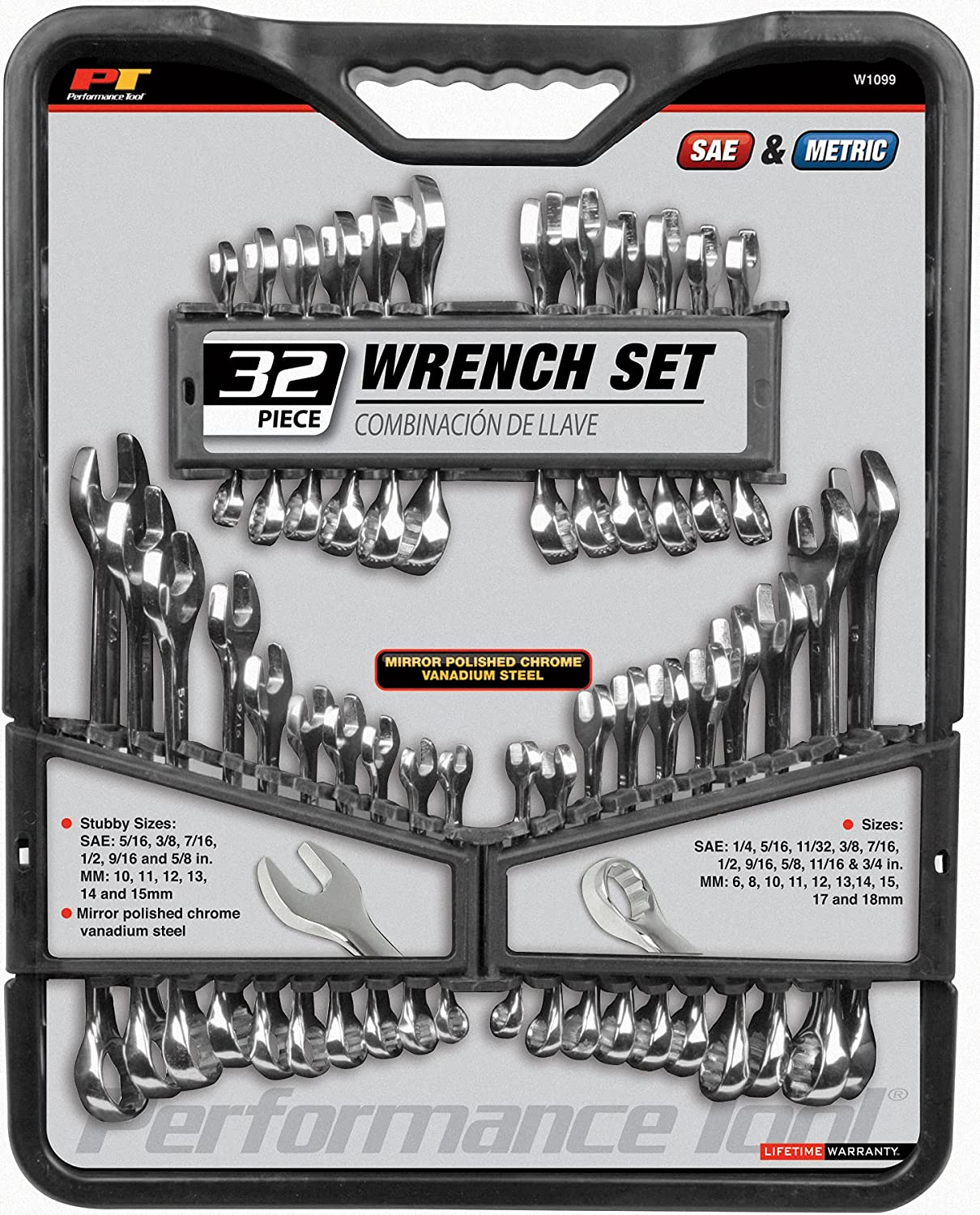 Performance Tool W1099 32-Piece SAE New product and Set P with Wrench Daily bargain sale Metric