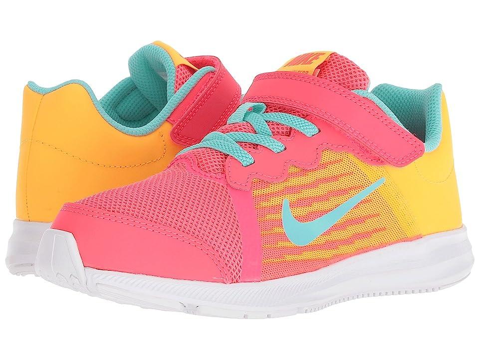 Nike Kids Downshifter 8 Fade (Little Kid) (Solar Red/Aurora Green/Laser Orange) Girls Shoes