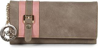 Nia & Nicole Women's Wallet (Beige, Peach)