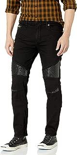 True Religion Men's Rocco Moto Skinny Leg