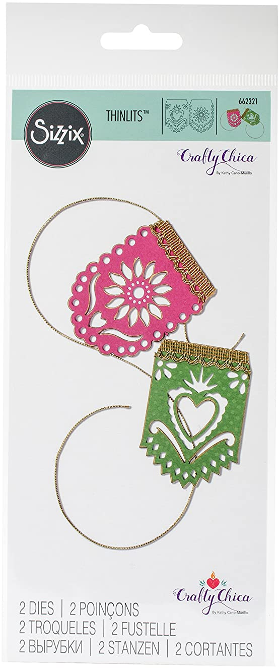 Sizzix 662321 Framelits Dies by Crafty Chica 2/Pkg-Banners
