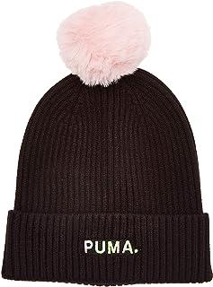 قبعة شتوية من جلد الشامواه للنساء من بوما، مقاس للبالغين