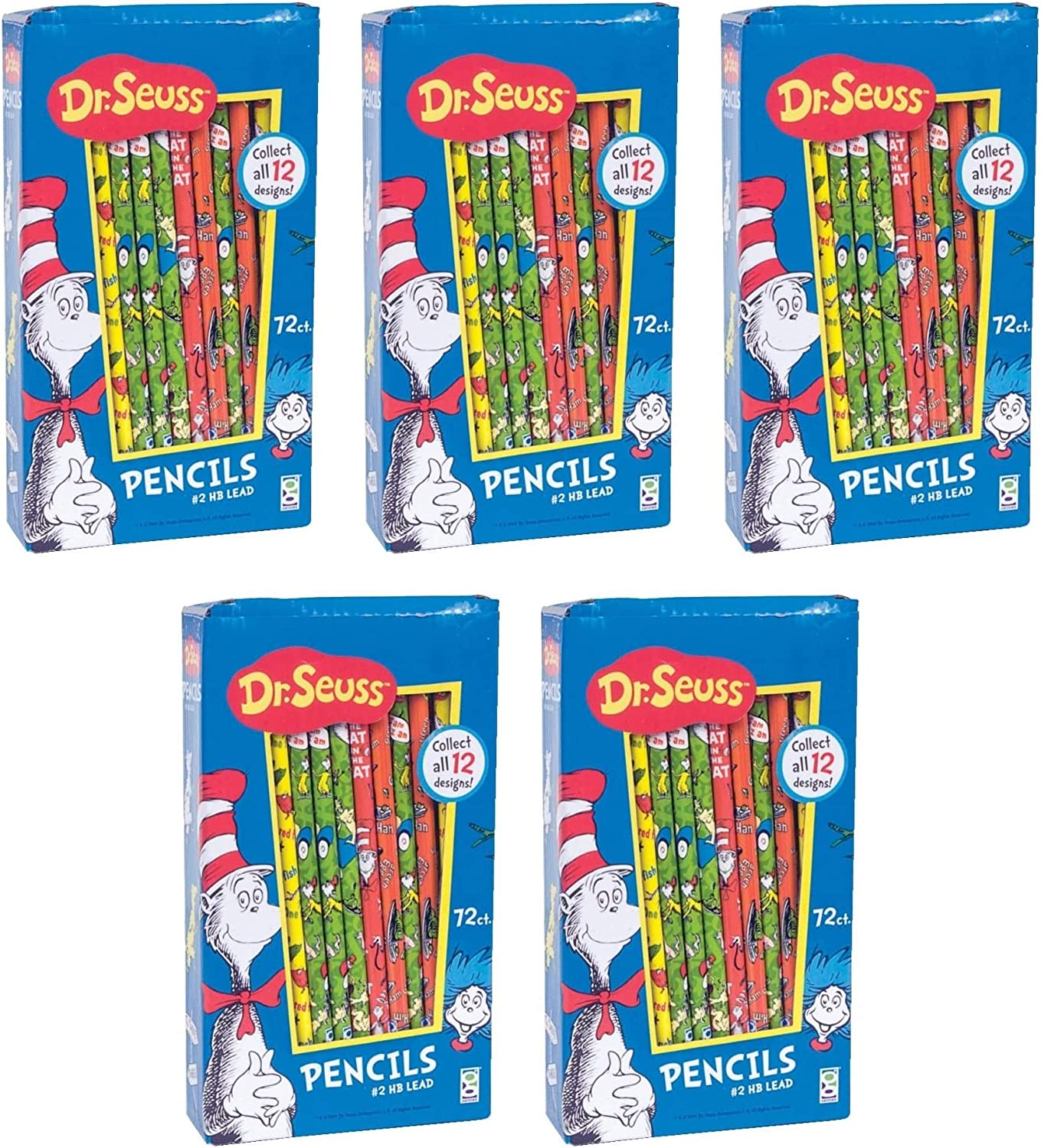 Raymond Geddes Dr Seuss Pencils Pack of 4 Pack of 72