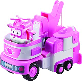 """Super Wings - Dizzy's Rescue Tow   Transforming Toy Vehicle Set   Includes Transform-a-Bot Dizzy Figure   2"""" Scale"""