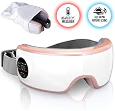 SereneLife Stress Therapy Electric Eye Massager - Smart Digital Eye Massager with Heat Pressure Point Therapy, Built-in Ba...