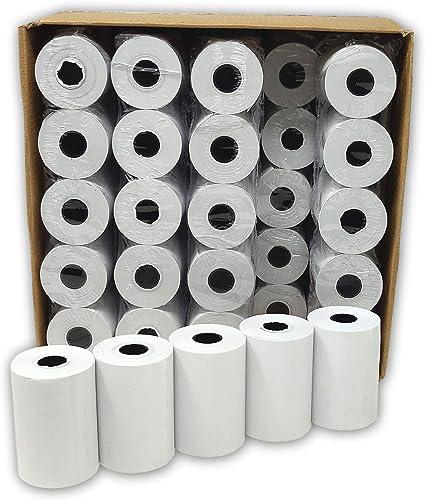 Lot de 50 - Bobine carte bancaire thermique 57 x 40 x 12 m -papier thermique pour CB 57 x 40 x 12 mm - Rouleaux machi...