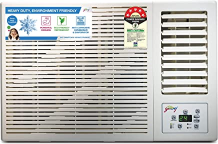 Godrej 1.5 Ton 5 Star Window AC (Copper, AC 1.5T GWC 18DTC5-WSA Window, White)