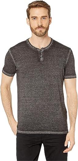 065a8d1f43 New. Raven Black. 3. Lucky Brand. Burnout Button Notch Shirt