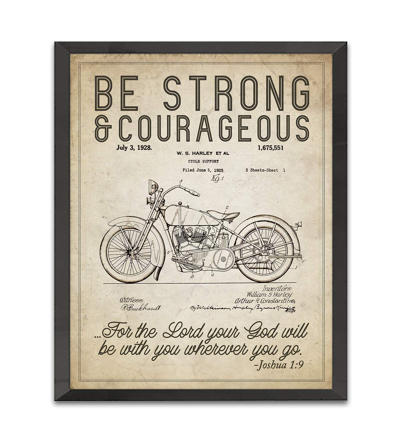 El Paso Mall Be Strong and Courageous Joshua 1:9 Print Patent Sale Art Bible Verse