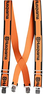 Genuine Husqvarna 505618500 Orange Suspenders with Metal...