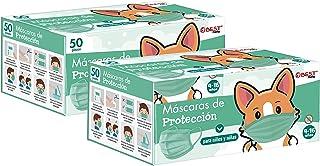Best Trading Cubrebocas Infantil, Tapabocas Tricapa para Niño, Calidad Premium con Diseños y Colores Divertidos, Ideales p...