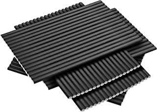 Ditch Plastic 100 Pack (4800-Case Avail) Paper Straws Biodegradable Made in USA Bulk Durable Compostable Drinking Straws Disposable Eco Friendly Straws Restaurant Grade FDA Food Safe (Black)