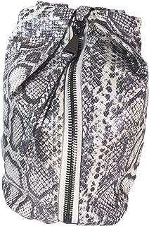 Backpack Tamitha Grey Hologram Snake Women's Tote Purse Pewter Hardware