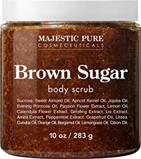 Brown Sugar Body Scrub for Cellulite and Exfoliation - Natural Body Scrub - Reduces The Appearances of Cellulite, Stretch ...