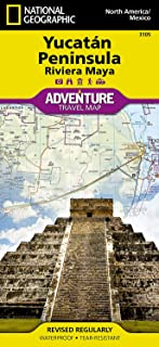 Northern Yucatn/maya Sites, Mexico: Travel Maps International Adventure Map (National Geographic Adventure Map) [Idioma In...