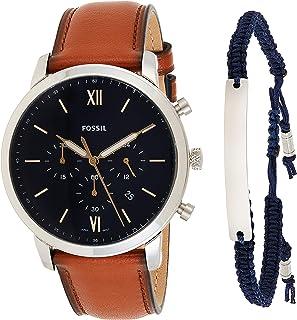 Fossil Neutra Chrono Men's Blue Dial Leather Analog Watch - FS5708SET