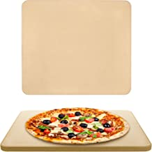 """Vescoware Pizza Stone for Oven - Baking Stone for BBQ & Grill - Large, Rectangular, 15""""x16"""", with High Heat Retention - Best for Crispy Crust Pizza, Bread and Outdoor Grilling - with Recipes E-Book"""