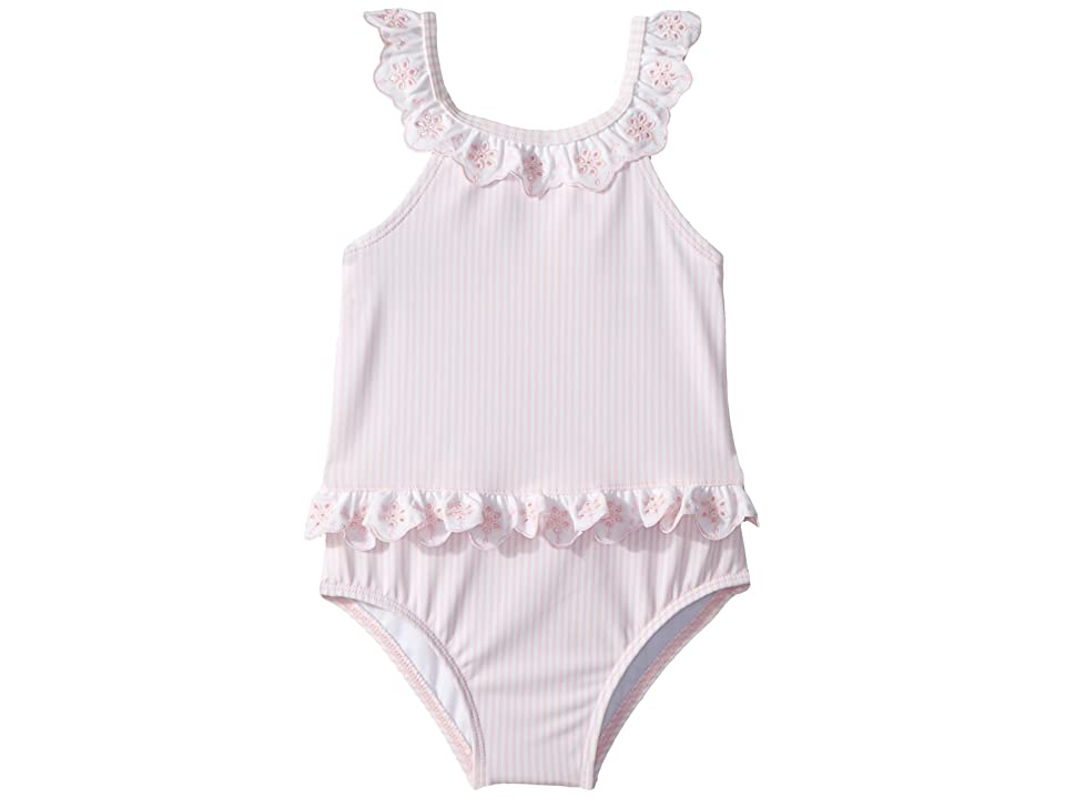Janie and Jack One-Piece Bow Back Swimsuit (Infant) (Dollface Pink) Girl