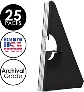 Lineco Self-Stick Easel Back, 9 inches, Black, Package of 25 (328-3331)