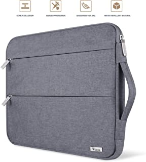 Voova 11 11.6 12 Inch Laptop Sleeve Case Cover, Water Resistant Computer Protective Bag Compatible with MacBook Air 11, Mac 12, Surface Pro 6 5 4 3, Acer Asus Chromebook Ultrabook with Handle, Gray