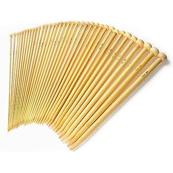 LIHAO 36 x Bambú Agujas de Tejer Agujas de Punto (2.0mm a 10.0mm)