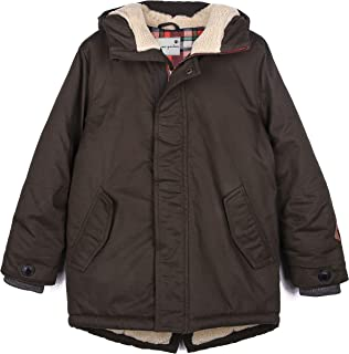 Maoo Garden Boys Long Winter Coat Kids Thicken Quailted Parka Warm Sherpa Hooded Jacket