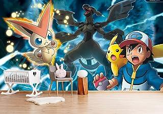 "3D Murals for Pokemon Pikachu 366 Japan Anime Papel Tapiz Mural Dibujos Cosplay Murales De Pared Desmontable | Autoadhesivo ES Zoe (Vinilo (Sin pegamento y removible), 【 82""x58""】208x146cm(WxH))"