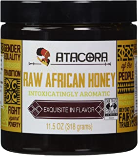 Raw African Amber Honey by Atacora - Fair Trade Raw Filtered Honey - 11.5 Ounce
