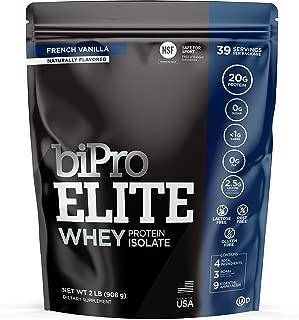 BiPro Elite 100% Whey Isolate Protein NSF Certified, Vanilla, 2 Pound