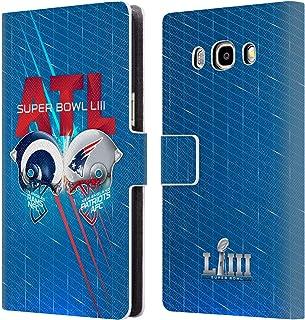 Head Case Designs Oficial NFL RAMS vs Patriots 2019 Super Bowl LIII Versus Carcasa de Cuero Tipo Libro Compatible con Samsung Galaxy J5 (2016)